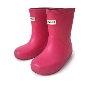 Hunter rain boots pink toddler sz 5